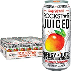 Only 20 calories per can, no added sugar 15 ounces Enhanced with a potent herbal blend of caffeine, Guarana, b-vitamins, Taurine, Ginseng, and milk thistle 24 Count