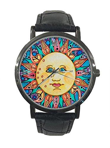 jkfgweeryhrt - Reloj de pulsera analógico de cuarzo y acero inoxidable, diseño de hippie
