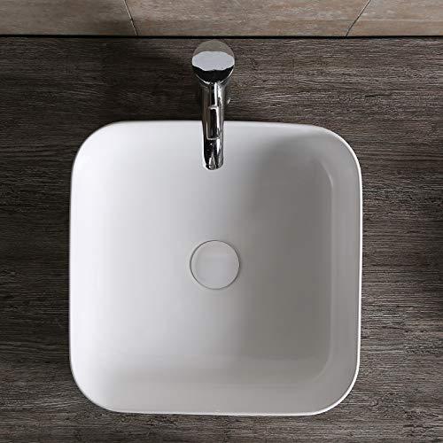 Waschbecken Design Handwaschbecken Eckwaschbecken klein 390 * 390 * 140 mm mm in Hochglanz weiß, mit Lotus Effekt (0083) von Art-of-Baan®