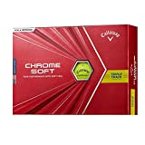 Callaway(キャロウェイ) ゴルフボール CHROME SOFT 2020年モデル 1ダース12個入り イエロー トリプルトラック 6421357128044