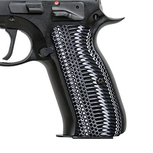 Cool Hand G10 Grips for CZ 75 Full Size, OPS Texture,White/Black G10, Brand