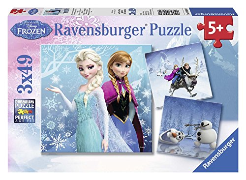 Ravensburger Disney Frozen 3x49 piece Jigsaw Puzzle, Multicoloured