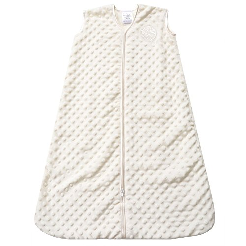 HALO Sleepsack Wearable Blanket, TOG 1.5, Velboa, Cream Plush Dots, Large