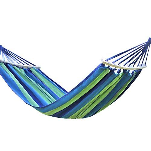 Fangwei Hängematte Gartenhängematte Outdoor Liegefläche 190x100 / 190x150 Belastbarkeit 200kg / 280kg (blau, 190x100 cm)