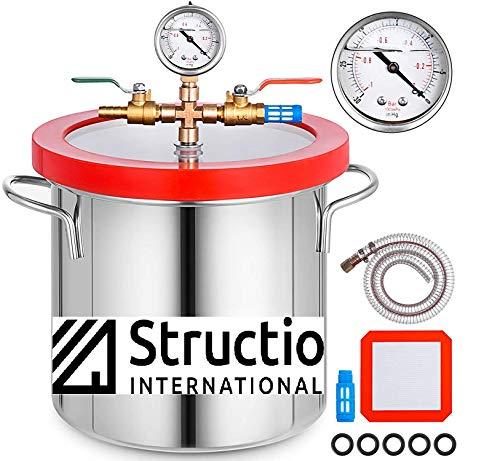 Vakuumkammer Exsikkator Vakuumbehälter Vakuumtopf 12 liter Vakuumkessel Harzfalle Vacuum Chamber Entgasungskammer