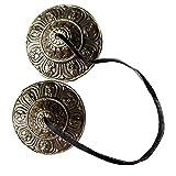 Tibetan Tingsha Meditation Bell - Meditation Chime Bells - Tingsha Cymbals - Tibetan Buddhist Meditation Yoga Bell Chimes In Gift Box With Instructions To Play (Medium, Silver Vajra)