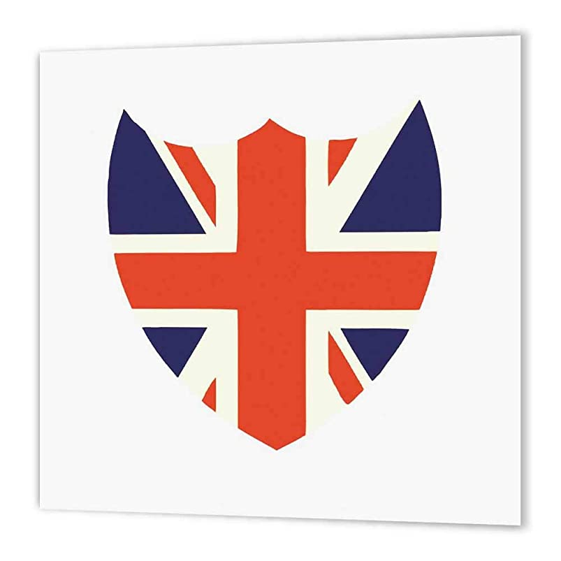 3dRose ht_62088_3 Union Jack Iron on Heat Transfer Paper for White Material, 10 by 10 suptxxwh956004
