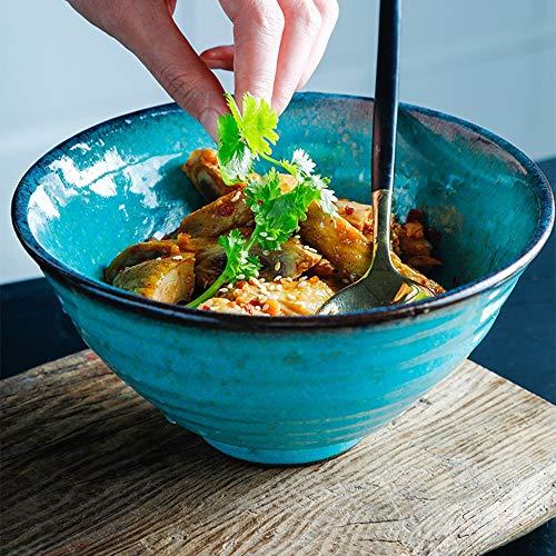 WXQY keramisch Japans keukengerei, retro-kom, onmiddellijke rijstkom, 7 inch, onmiddellijke pastkom, Westart-groot soepkom, keukengerei