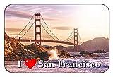 Cadora Magnetschild Kühlschrankmagnet I Love San Francisco II