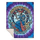 Liquid Blue Grateful Dead Vintage Bertha Warm Coral Fleece Throw Blanket, Multi, 50' X 60'