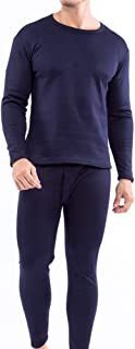 Yamyannie-Clothing Men's Thermal Underwear Long Set Top And Bottom (Color : Blue, Size : XL)