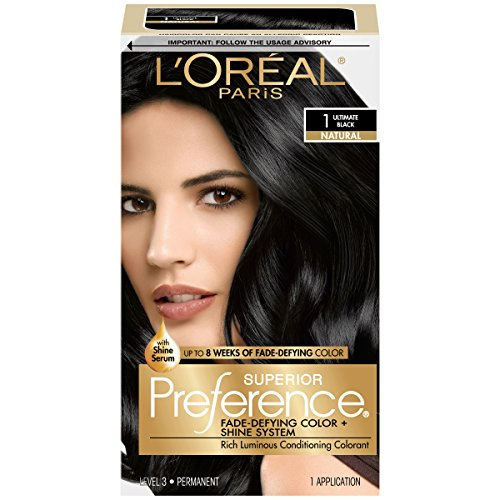 L'Oréal Paris Superior Preference Fade-Defying + Shine Permanent Hair Color, 1.0 Ultimate...
