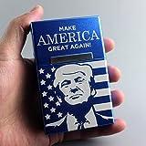 N/H Caja de cigarrillos de metal cubierta Clamshel de aleación de aluminio caja de cigarrillos fumar regalo nosotros presidente Donald J Trump productos derivados