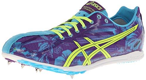 ASICS Men's Gunlap Track And Field Shoe,Blue Floral/Flash Yellow,13 M US -  ASICS America Corporation