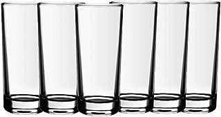 Borosil Irina Glass Set, 290ml, 6-Pieces, Transparent