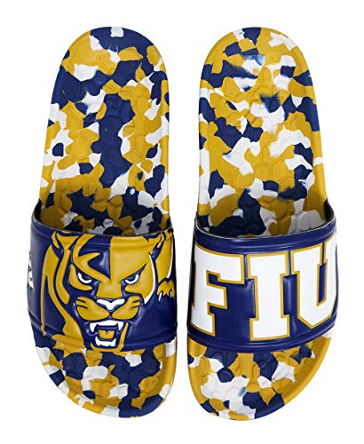 Hype Co Florida International FIU Panthers Slydr Sports NCAA Sandals (8 Womens, 6 Mens) - Beach Slides - Pool Slippers