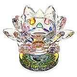 SUMTREE - Candelabro de cristal con forma de flor de loto, soporte para vela...