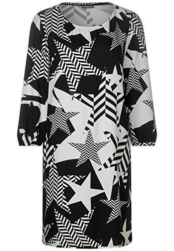 Street One Damen 142556 Kleid, Mehrfarbig (Black 20001), (Herstellergröße:34)