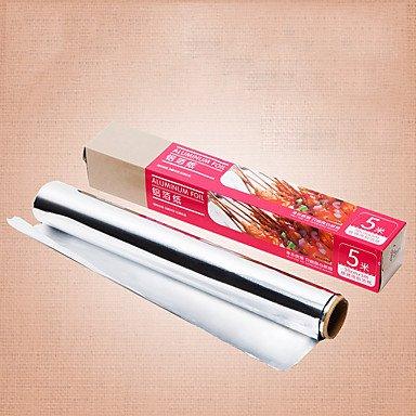 MZP 5 mètres de long Gril de clinquant Papier d'aluminium épais Papier sulfurisé
