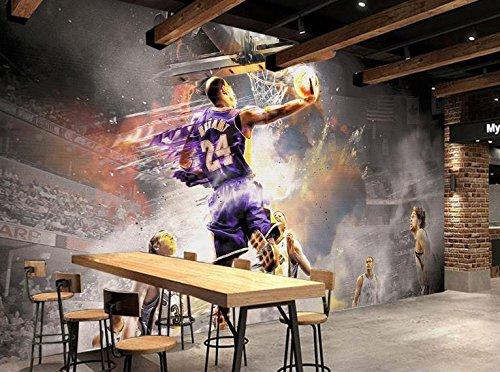 Yosot Anpassen Von 3D Fototapete Nostalgie Basketball Schlafzimmer Tapete Für Wände 3D Tapete-400Cmx280Cm