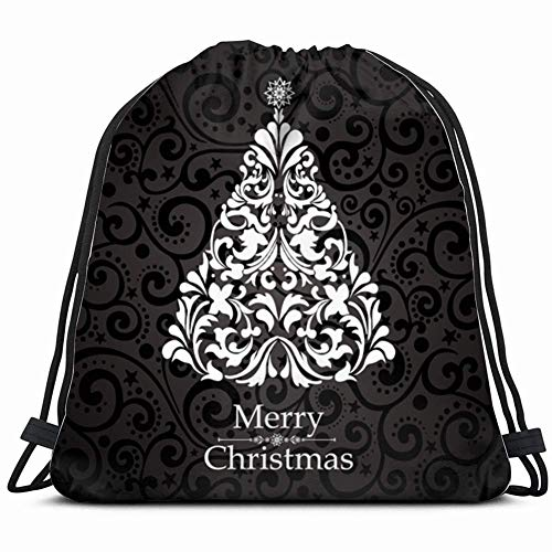Light Ing Christmas Card Tree Backgrounds Textures Holidays Bundle Backpack Drawstring Bags Gym Bag Gym Sack For Hiking Beach Travel