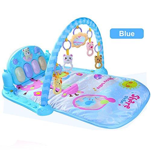 Bebé Piano Gimnasio Multi-funciona Juguete Ayude a Bebé a Prender y Hacer Deporte (Azul)