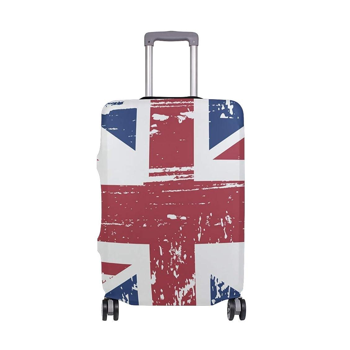 認可小さい繁栄ビンテージイギリス国旗 スーツケースカバー 弾性素材 おしゃれ トラベルダストカバー 傷防止 防塵カバー 洗える 18-32インチの荷物にフィット