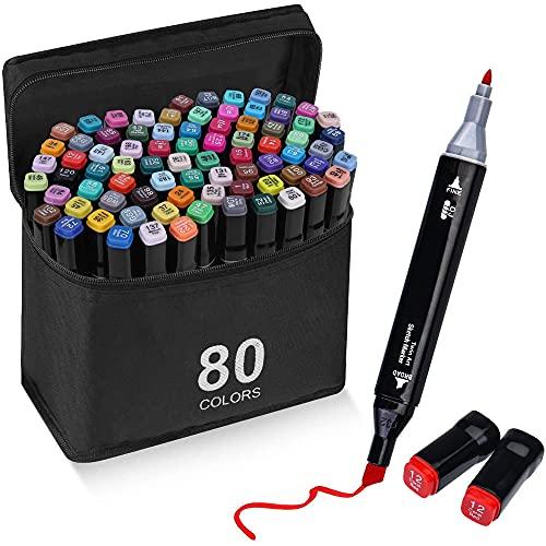 Rotulador de 80 Colores Marker Pen Marcadores Manga Creativos de Certificación