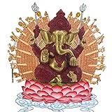 Pevfeciy La Escultura de Resina Piedra Arenisca Hue Buddism Godness Guanyin Estatua Hecha a Mano estatuilla Feng Shui Decoración Vignéswara,E