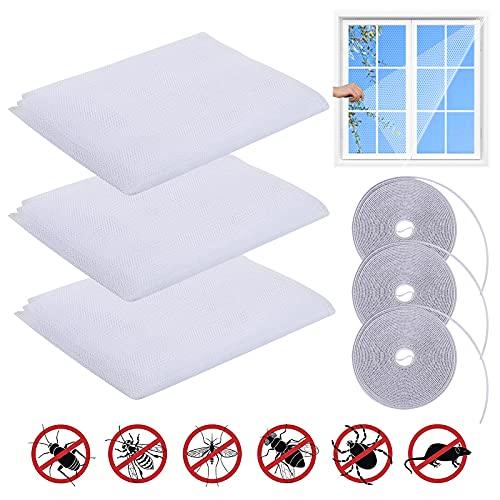 FGen 3pcs Ventana de pantalla,Mosquitera para ventana,mosquitera,Malla Contra Insectos Mosquitera kit con...