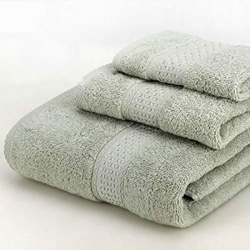 berglink - Juego de 3 toallas de baño de algodón 100% pañuelo, toalla de baño familiar, juego de toallas de baño, 5 colores, 3 unidades, color verde