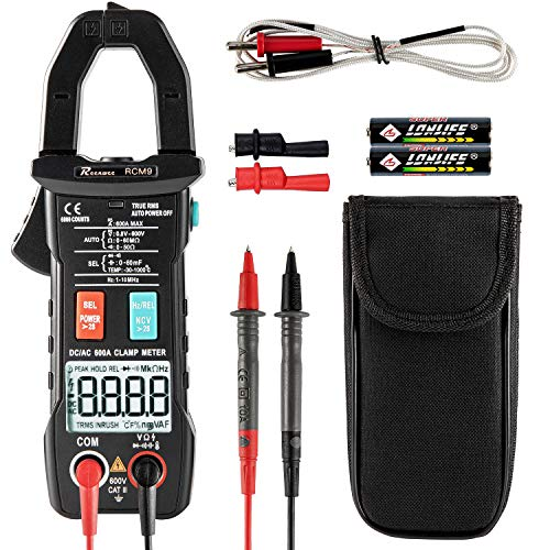 Reenwee Digital Clamp Meter T-RMS 6000 Counts, Multimeter Voltage Amp Ohm...