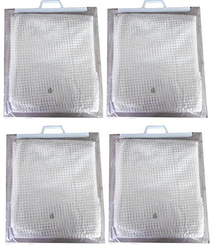 EXCOLO 24 qm 4 x Gitterfolie 2 x 3 Meter transparent weiß Abdeckung Windschutz Sichtschutz Schutz