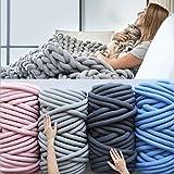 TIGOXL Bulky Knitting Wool Wool Chunky Wool Yarn Super Soft Roving Crocheting DIY 2019 y (Blanco)