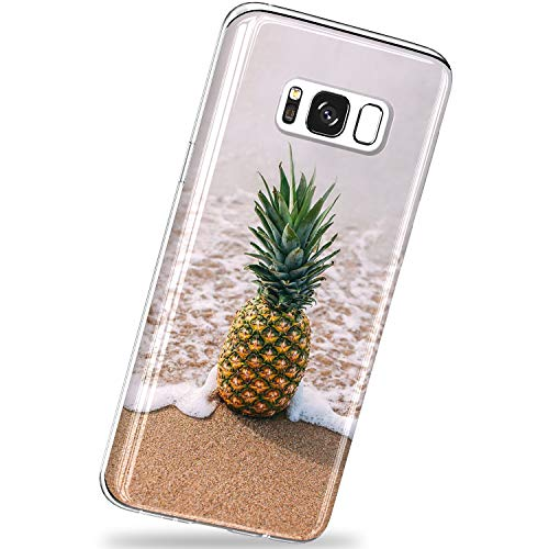 VIVIBIN Samsung Galaxy S8 Plus Case,A Pineapple Design Shock Proof Flexible Glossy TPU with Clear Bumper Slim-Fit Protective Phone Case for Galaxy S8+ Plus 5.5 inch 2016