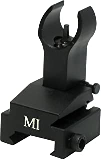 Midwest Industries Flip-Up Front Sight Gas Block Height, Black