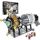 Bloques de construcción modelo nave espacial, 7011 piezas MOC tecnología NASA Apollo 11 Moon Landing Kit de construcción nave espacial Compatible con tecnología Lego Apollo 11,70 * 40 * 43cm