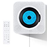 Home CD Player with Bluetooth, Popsky Wall Mountable CD Music Player with Remote Control Built-in HiFi Speakers, Headphone Jack AUX Input Output