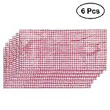 YeahiBaby jetables Nappe Rouge Blanc à Carreaux Plastique Grid Coque pour fête 6pièces 137x 274cm