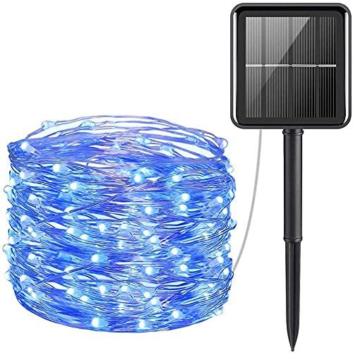 Luci a Stringa Solare per Esterno Mini 33 Piedi 100 luci a Filo di Rame a LED Impermeabili 8 modalità Luci fiabesche a energia Solare per Festa in Giardino Matrimonio Natale