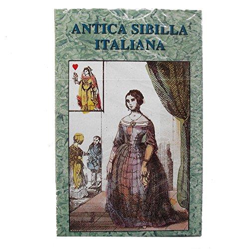 Green Cross Toad Antica Sibilla Italiana Oracle, 32 Wahrsagen Karten Deck in italienischen Sprache
