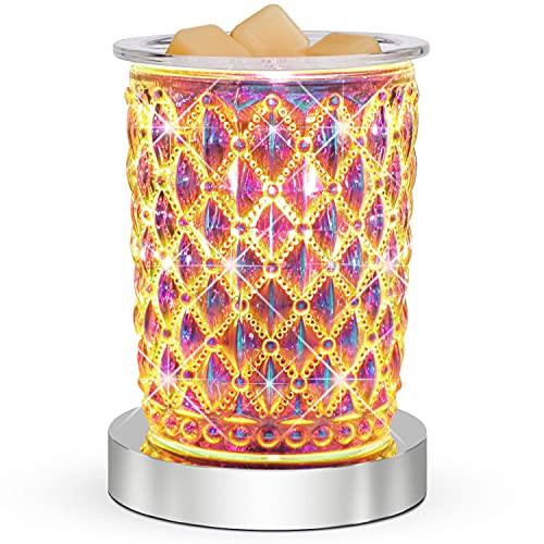 SALKING Quemador Aceites Esenciales,Cristal Difusor de fragancias de Control táctil