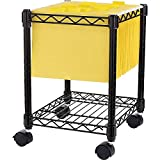 Lorell Compact Mobile Cart, 15-1/2 by 14 by 19-1/2-Inch, Black