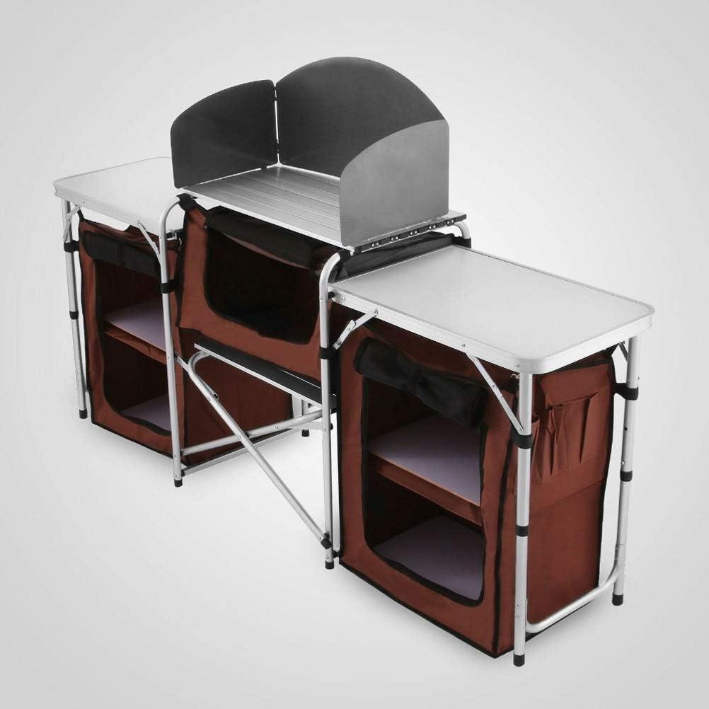 Nashville-Davidson Mall WDBBY Easy Minneapolis Mall Folding Kitchen Stand Cabinet Storage Portable Table