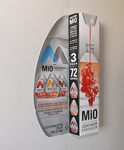 Mio Liquid Water Enhancer, Strawberry Watermelon, Fruit Punch and Orange Tangerine, 3 Count