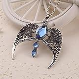 ShZyywrl Collar De Joyas Regalos para Aniversario Cumpleaños De La Madre Collar Collar Diadema Reina Colgante De Cristal Azul Vintage