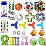 TAIYH Kit De Juguetes Sensoriales, Toys Set Ldeales para Aliviar el Estrés y la Ansiedad para TDAH,Autismo para Niños y Adultos Fidget Toy, 【Upgrade】 Set De Juguetes Sensoriales Fidget (Color : E)