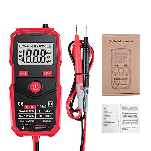MiOYOOW Digital Multimeter Automatic, Electrical Voltmeter Tester with Intelligent NCV, Auto-Ranging Multimeter AC/DC, Car Battery Tester Circuit Tester