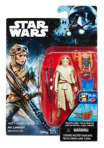 Star Wars – El Despertar de la Fuerza – Rey (Jakku) – Figura de acción de 9 cm con accesorios de batalla