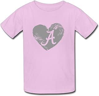Youth's Alabama Crimson Tide Heartbeat Tshirts
